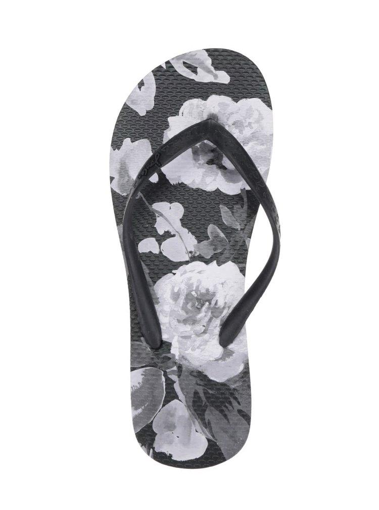 Černé dámské květované žabky Tom Joule