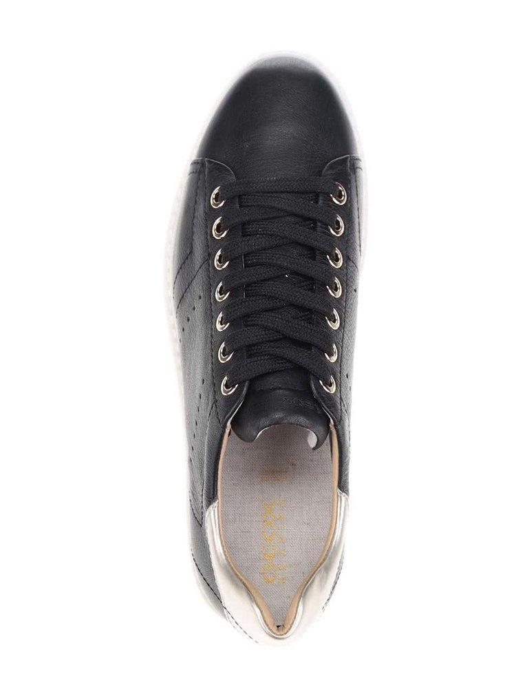 Černé dámské kožené tenisky Geox Thymar