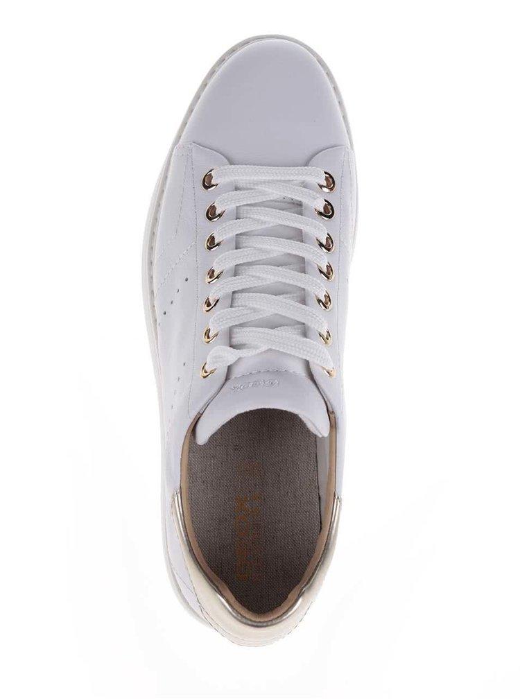 Bílé dámské kožené tenisky Geox Thymar