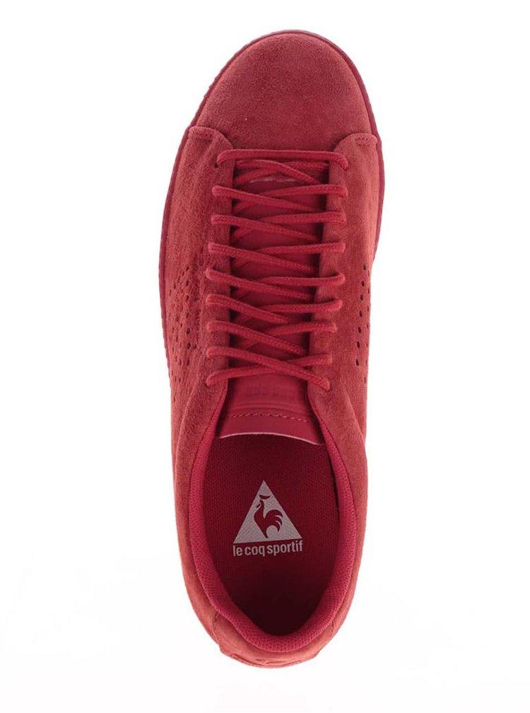 Červené dámské semišové tenisky Le Coq Sportif Charline