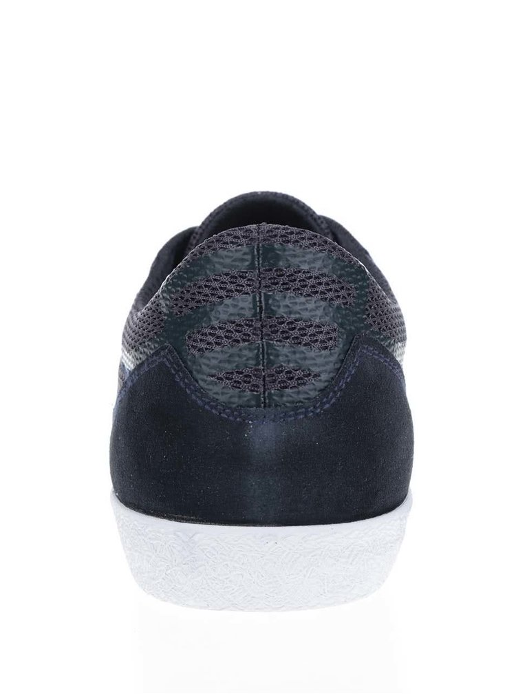 Tmavě modré pánské kožené tenisky Geox Smart
