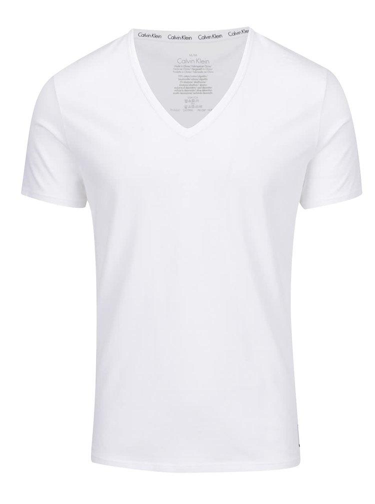 Sada dvou triček pod košili v bílé barvě Calvin Klein