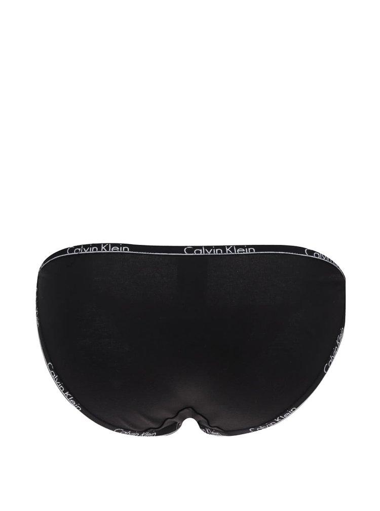 Černé kalhotky s logem Calvin Klein