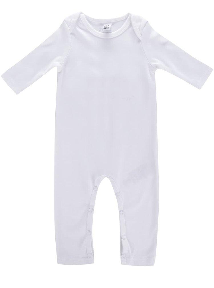 Bílý kojenecký overal s potiskem na zádech ZOOT Kids liška