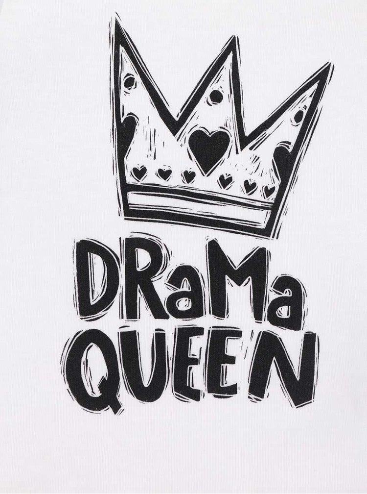 Bílé holčičí kojenecké tričko ZOOT Kids Drama queen