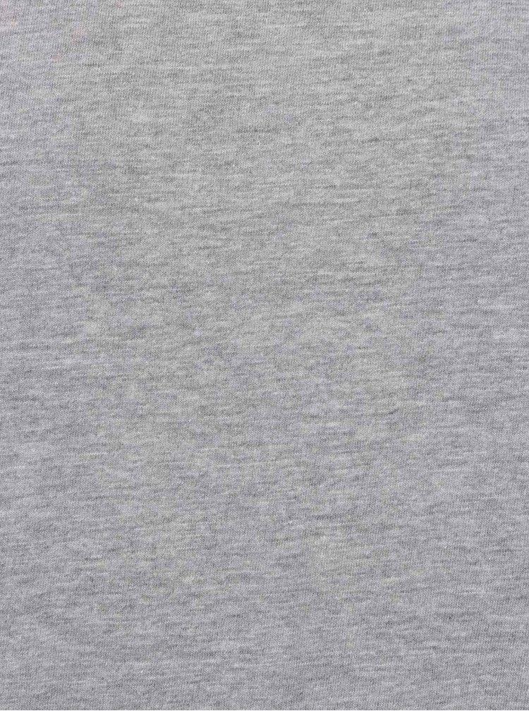Tricou gri melanj JP 1880 din bumbac cu logo