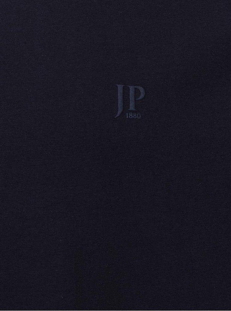 Tricou albastru inchis JP 1880 din bumbac cu logo
