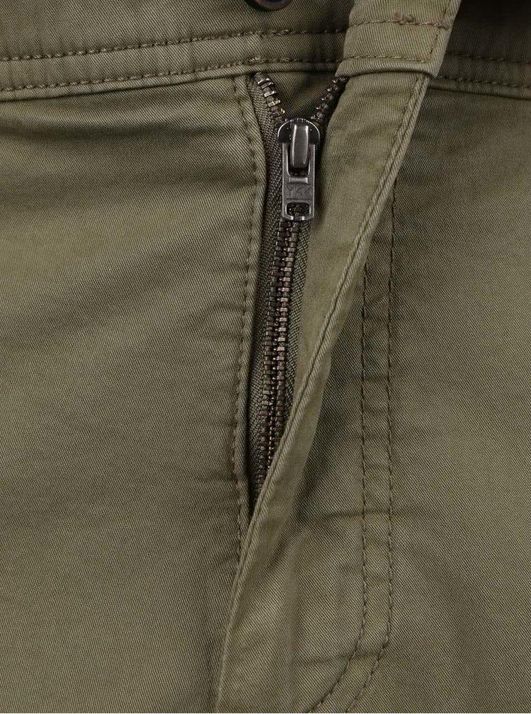 Pantaloni chino scurti kaki JP 1880 cu talie elastica