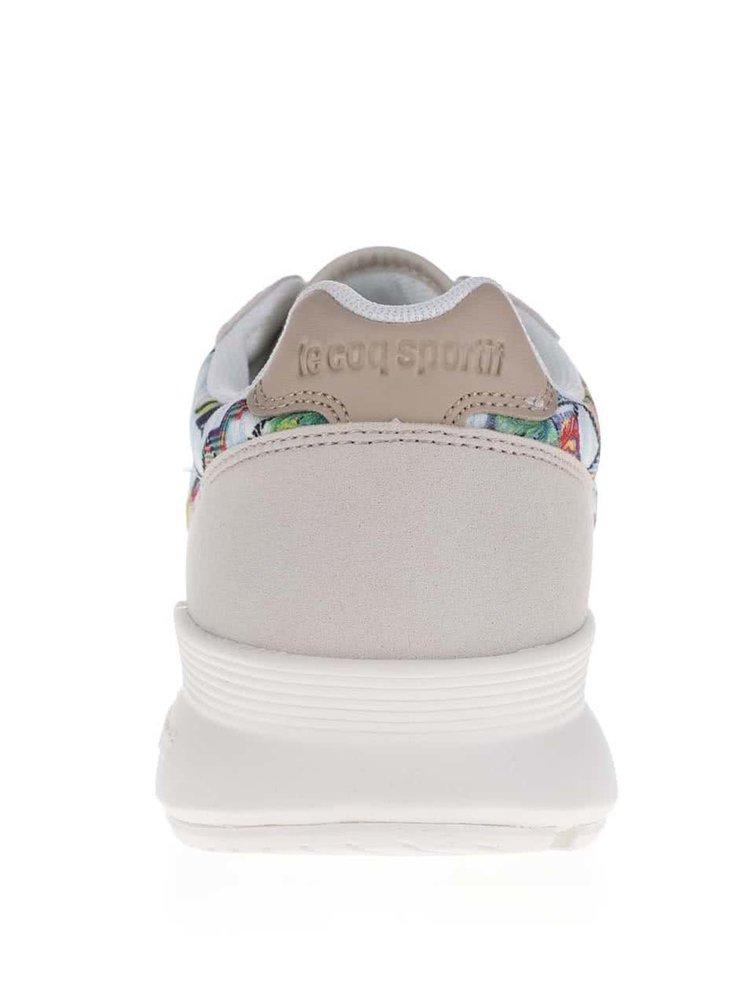 Béžové vzorované dámské tenisky Le Coq Sportif Omega