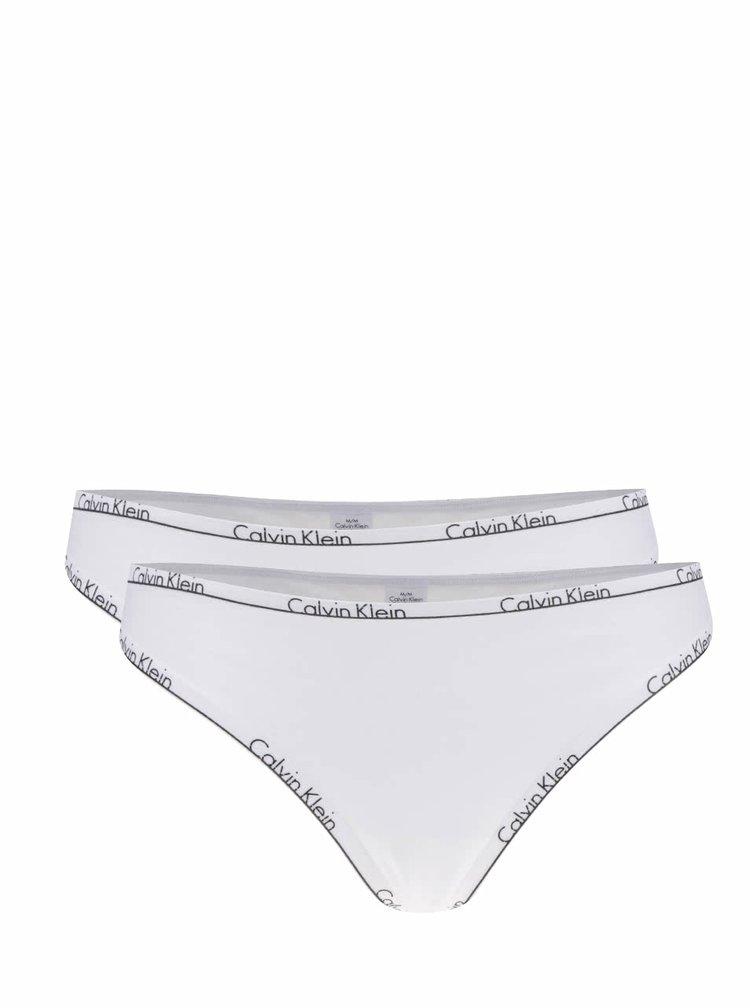 Sada dvou tang v bílé barvě Calvin Klein
