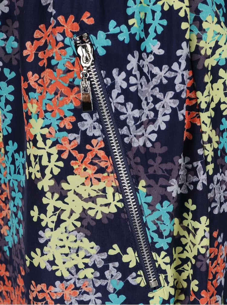 Tmavě modré vzorované lehké šaty Apricot
