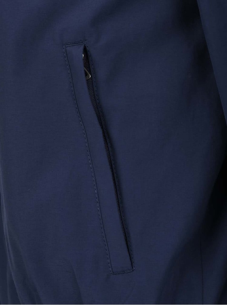 Jacheta albastru inchis Geox cu guler inalt