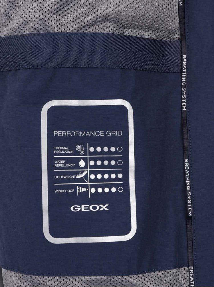 Jachetă albastru închis Geox cu guler înalt