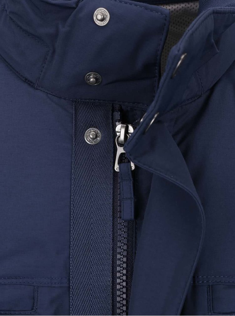 Modrá pánská bunda se skrytou kapucí Geox