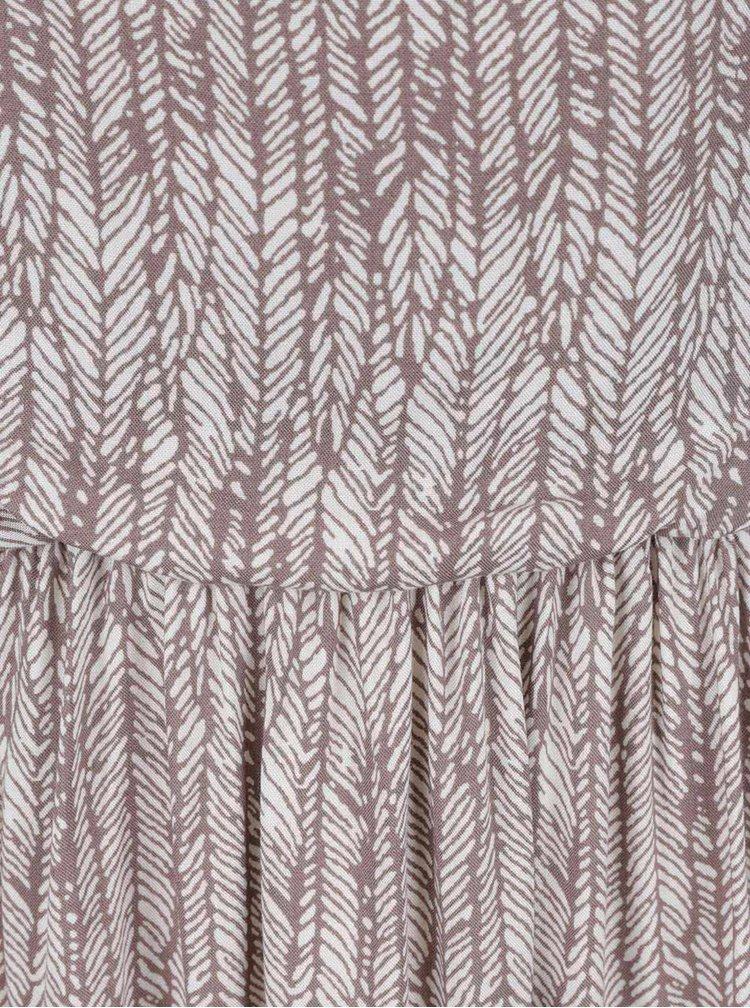 Krémovo-šedé vzorované maxišaty Apricot
