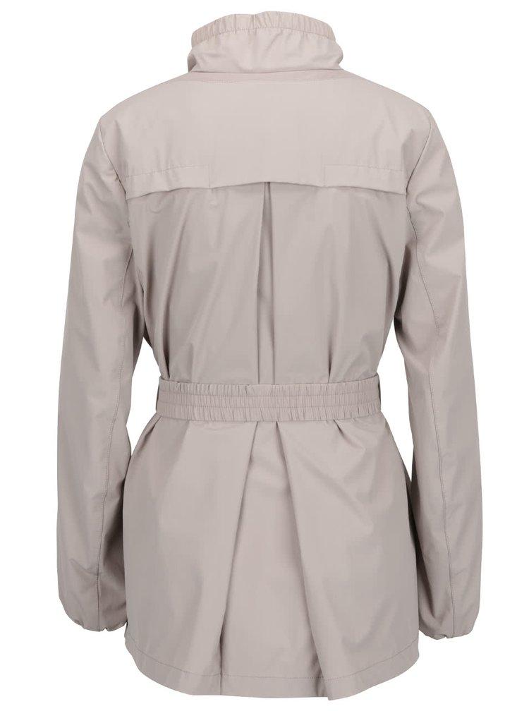 Béžová dámská bunda s páskem Geox