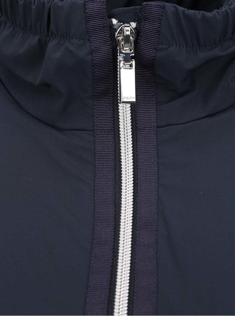 Tmavě modrá dámská bunda s páskem Geox