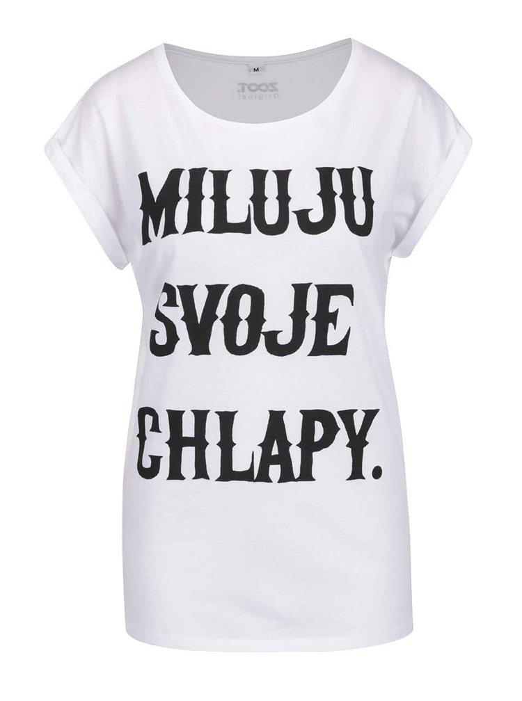 Bílé dámské tričko ZOOT Originál Miluju svoje chlapy