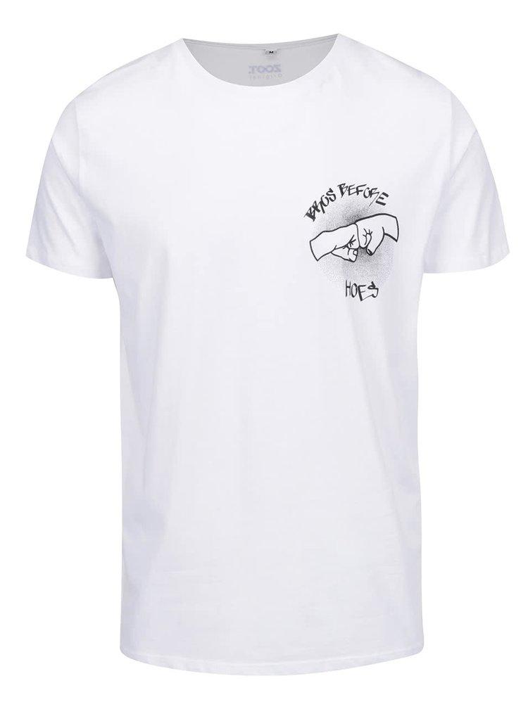 Tricou alb ZOOT Original cu print cu text