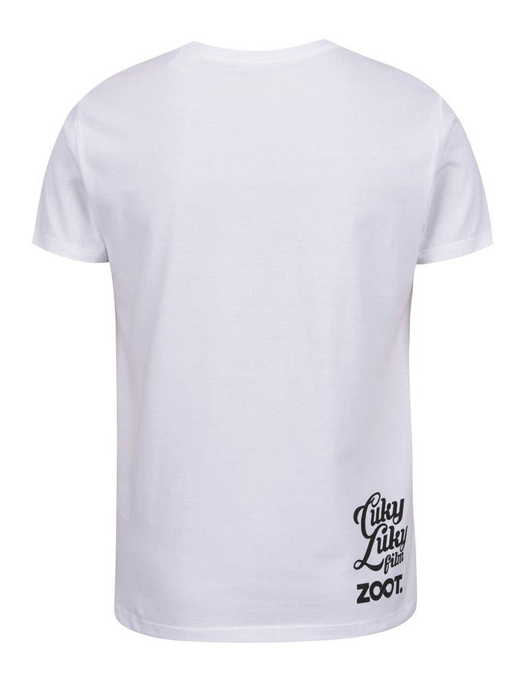 Bílé dětské tričko s potiskem kačenek Cuky Luky film