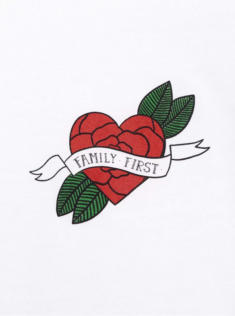 Bílé dámské tričko ZOOT Originál Family first
