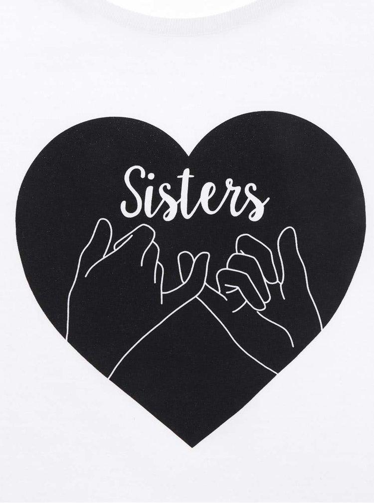Tricou alb ZOOT Original Sisters cu print