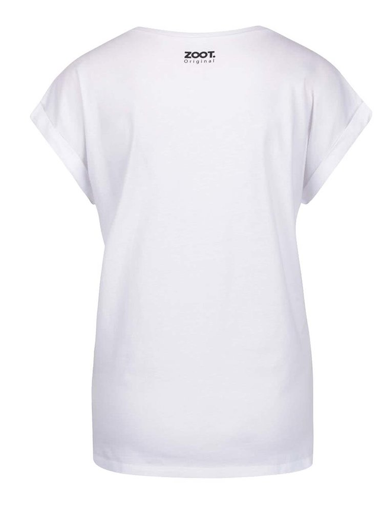 Bílé dámské těhotenské tričko ZOOT Originál Flower heart