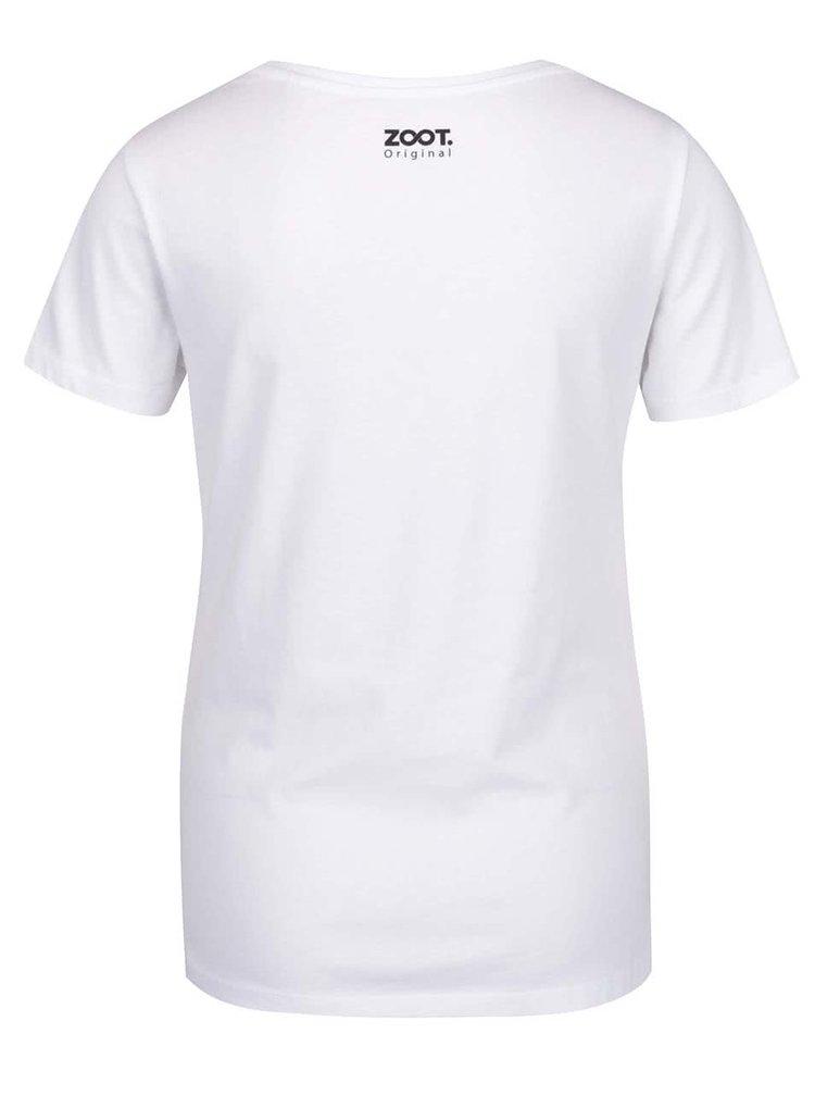 Tricou alb ZOOT Original Honey moon cu print
