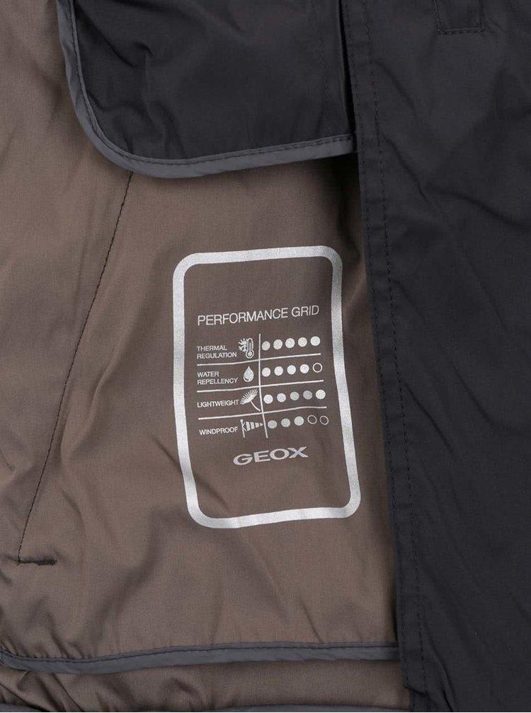 Jachetă gri închis impermeabilă Geox