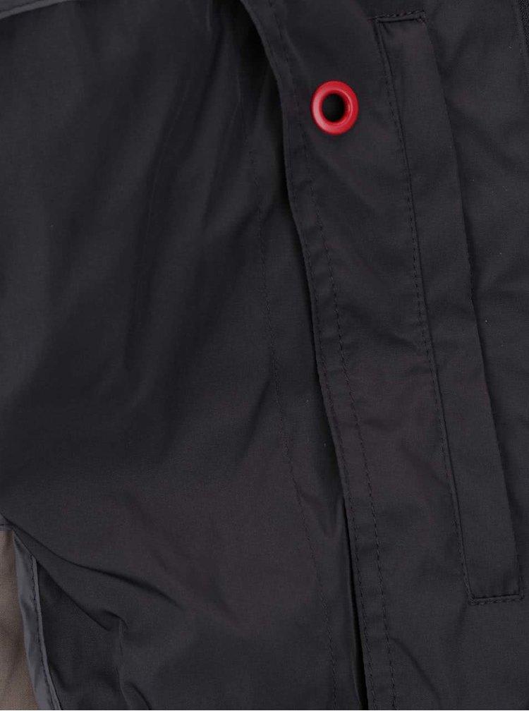 Tmavě šedá pánská bunda s pružnými lemy Geox