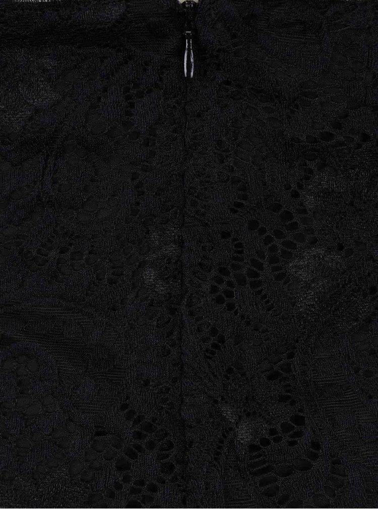 Černé krajkové šaty na ramínka ONLY Dove