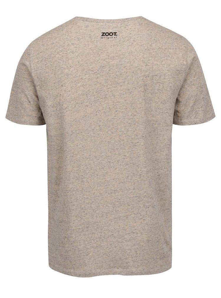Béžové žíhané pánské tričko ZOOT Originál Svoji holčičku si ohlídám!