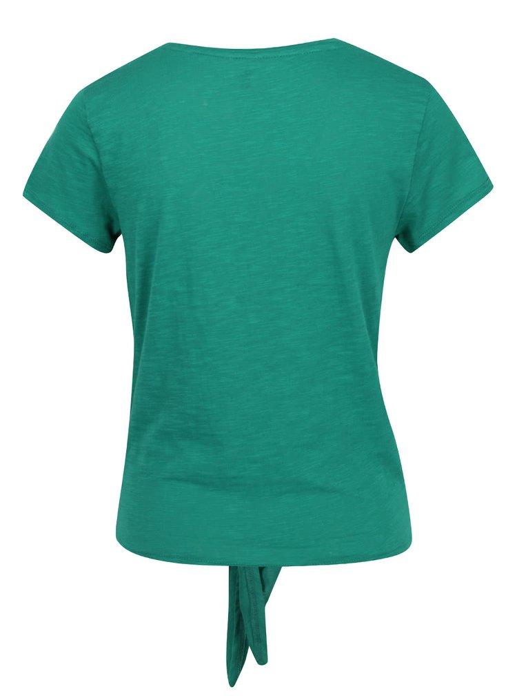 Zelené žíhané tričko s uzlem ONLY Kasia