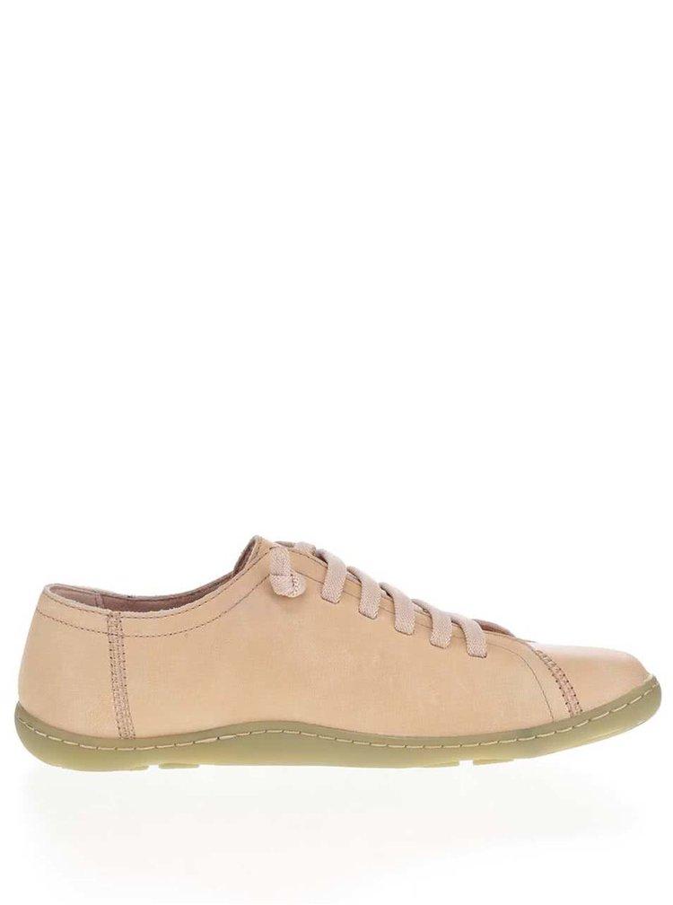 Béžové dámské kožené tenisky Camper