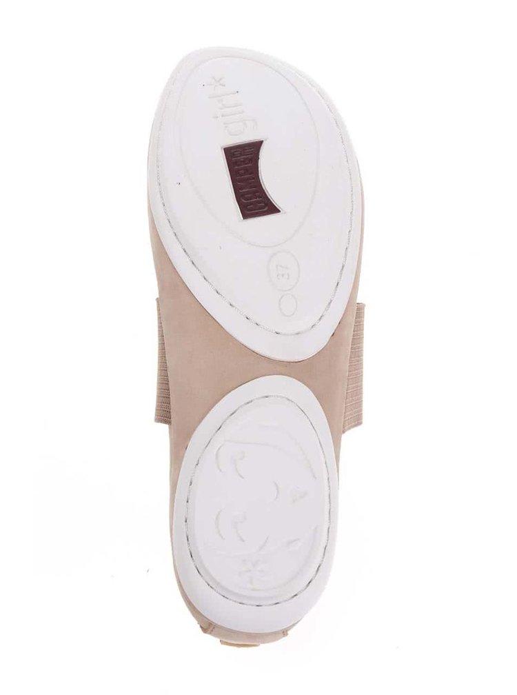 Krémové kožené baleríny Camper
