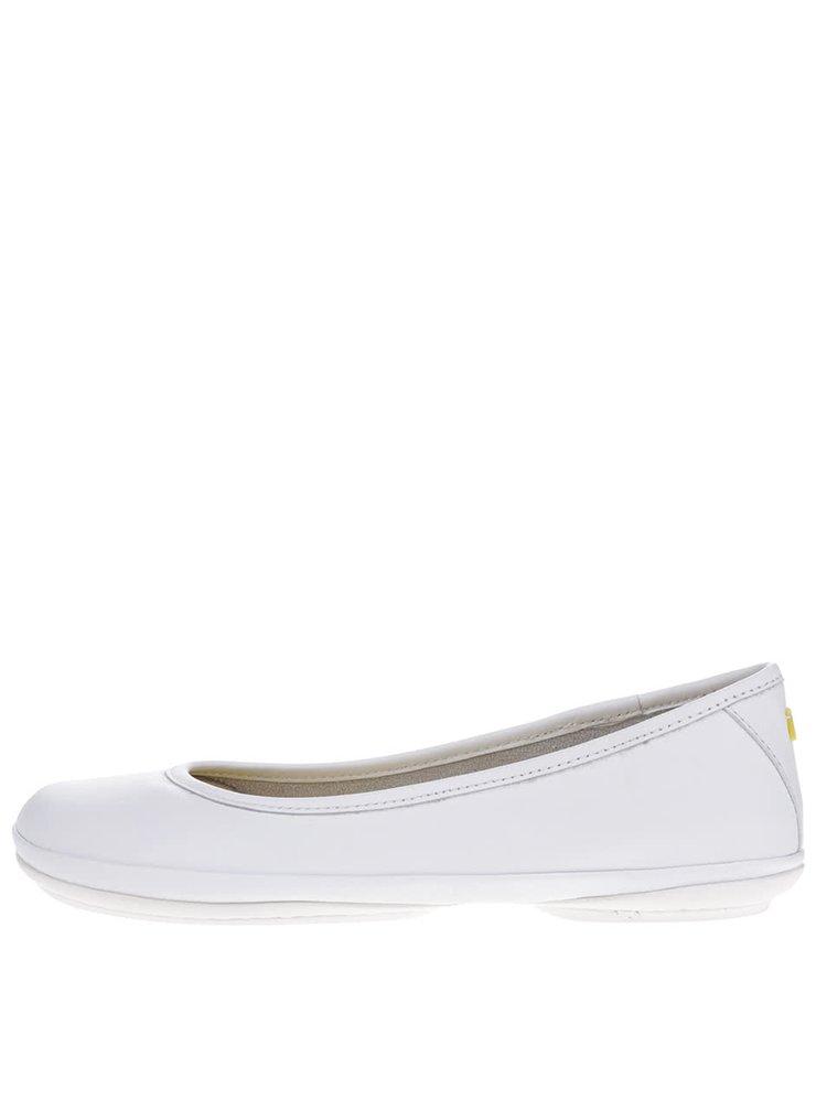 Bílé kožehé baleríny Camper