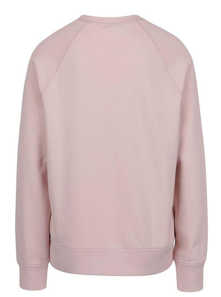 Bluza roz pal VERO MODA O-Neck din bumbac organic cu print