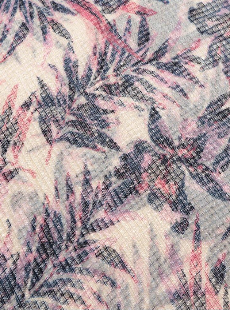 Modro-béžový květovaný šátek Pieces Slate