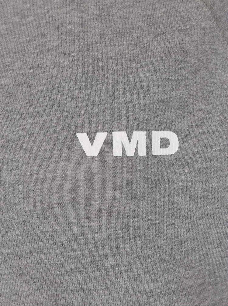 Bluza gri inchis melanj VERO MODA O-Neck cu print