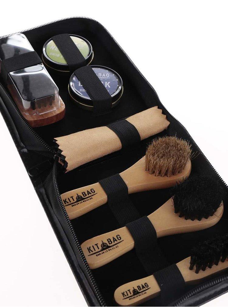 Černý cestovní set na čištění bot CGB