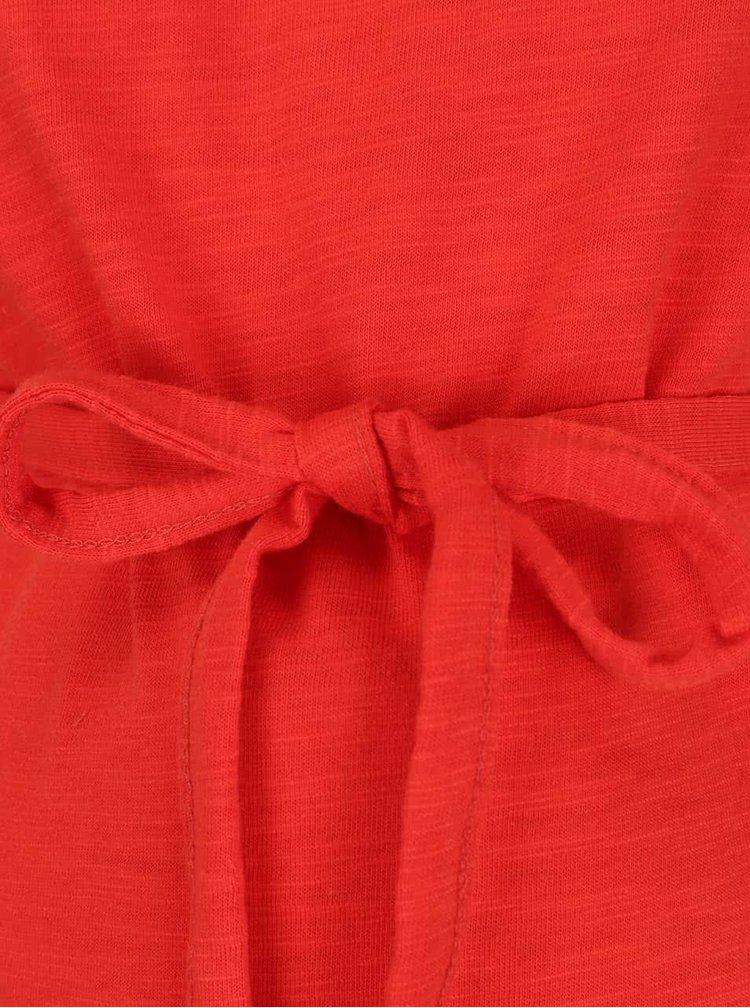 Rochie roșie Mama.licious New Aletta cu inserție din dantelă