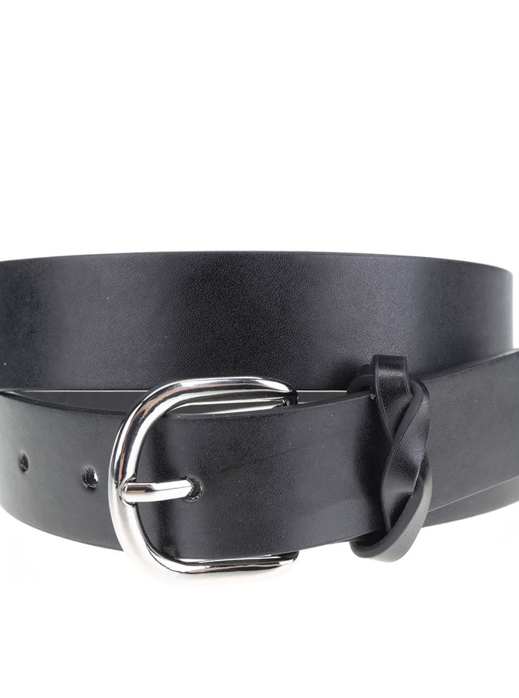Černý pásek se sponou Pieces Sakari