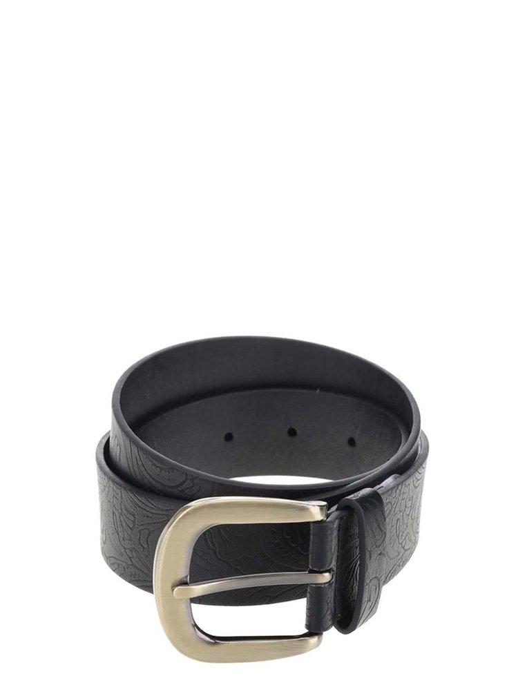 Černý pásek s jemným vzorem Pieces Lilbeth