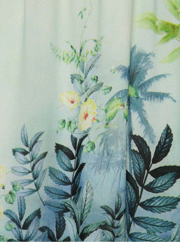 Modro-zelené květované maxišaty Smashed Lemon