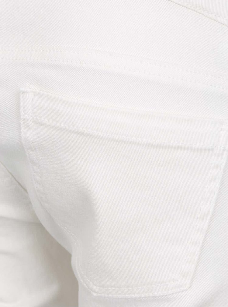 Blugi alb fildes slim Mama.licious Sigga cu aplicatie elastica