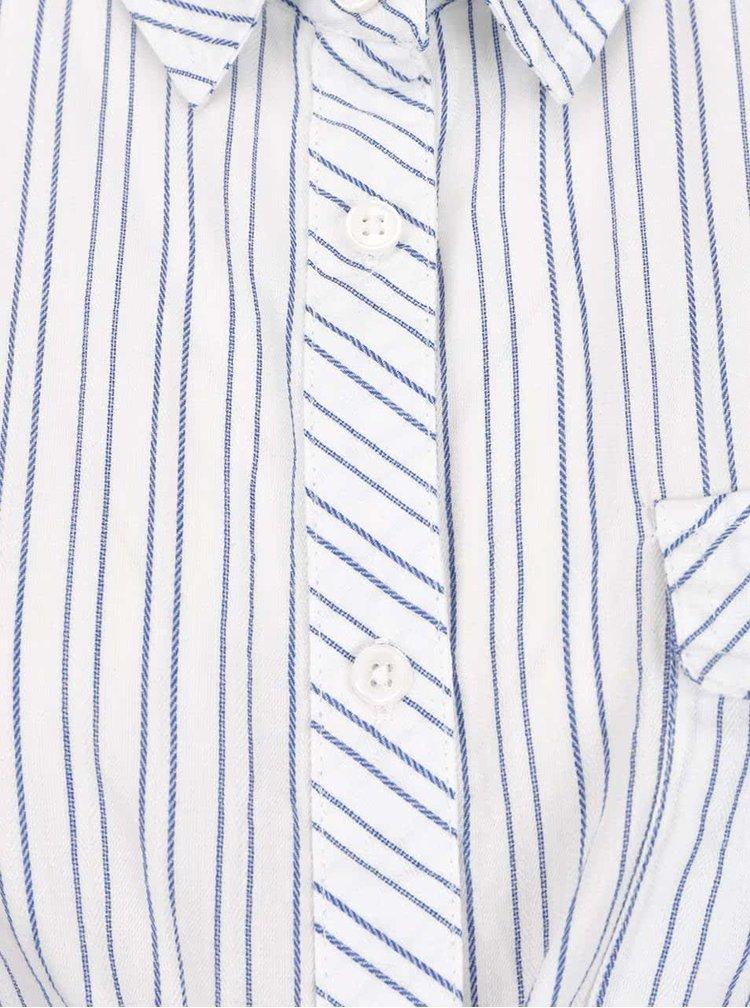 Bílá pruhovaná těhotenská košile Mama.licious Pila