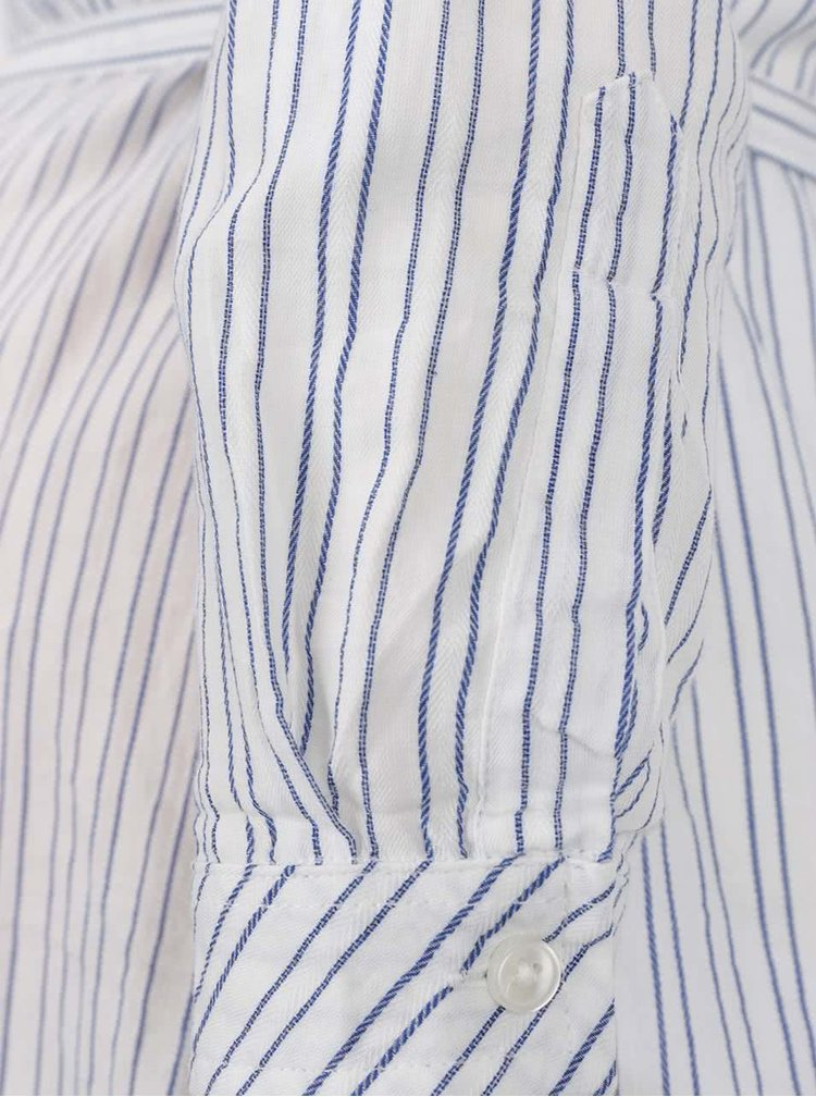 Cămașă alb&albastru Mama.licious Pila cu model în dungi