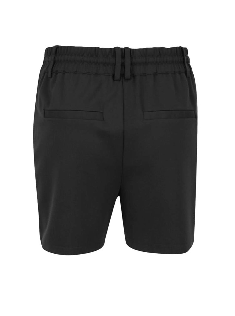 Pantaloni scurti negri cu talie clasica cu snur - ONLY Poptrash