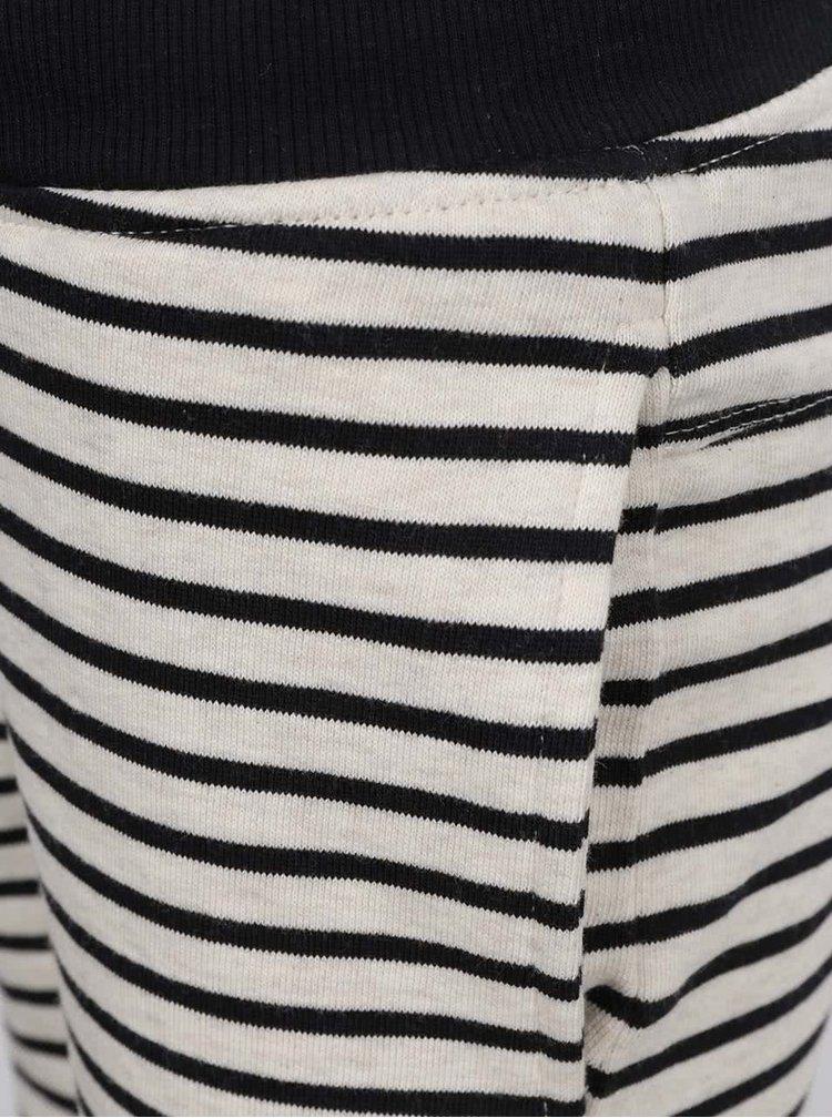 Krémovo-černé klučičí pruhované kraťasy name it Kube