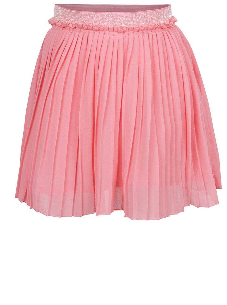 Růžová holčičí plisovaná sukně name it Inew